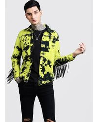 BoohooMAN - Tie Dye Festival Shacket With Fringing - Lyst