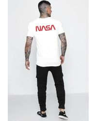 Boohoo - Nasa Front And Back License T-shirt - Lyst