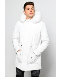 Boohoo - Faux Fur Lined Hooded Parka - Lyst
