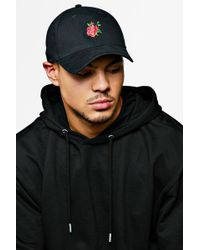 cff95ec5 Forever 21 Men Embroidered Rose Patch Dad Hat in White for Men - Lyst