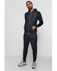 Boohoo - Hooded Tracksuit With Biker Details - Lyst