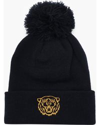 d23a3db311691 adidas Originals Woven Logo Pom-pom Beanie Faded Ink core Gold raw ...