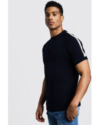 BoohooMAN - Arm Stripe Short Sleeve Polo - Lyst