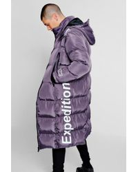 BoohooMAN - Expedition Longline Duvet Puffer - Lyst