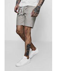 Boohoo - Woven Drawstring Shorts With Pockets - Lyst