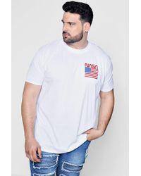 Boohoo - Big And Tall Nasa Licence T-shirt - Lyst