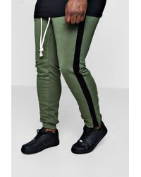 Boohoo - Big And Tall Panelled Joggers - Lyst