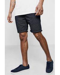 Boohoo - Navy Chino Shorts With Polka Dot Print - Lyst
