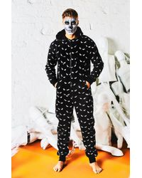 Boohoo - Halloween All Over Eyes Design Onesie - Lyst