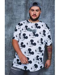 BoohooMAN - Big And Tall Disney 'oh Man' Oversized T-shirt - Lyst