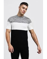 23c3ab2e Boohoo Muscle Fit Grandad Collar Basket Knit T-shirt in Natural for ...