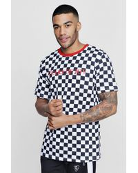 Boohoo - Tyga Tears Of Joy Checkerboard T-shirt - Lyst