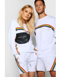 Boohoo - Pride Rainbow Tape Co-ord In Loose Fit - Lyst