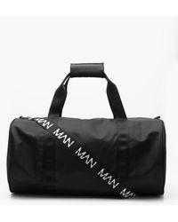Boohoo - Man Tape Nylon Barrel Bag - Lyst