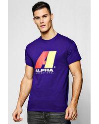 e1606fca78d5a6 Lyst - Boohoo Star Print Raglan T-shirt in Blue for Men