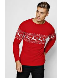 f9d9fb488ff Boohoo Unwrap Me Christmas Jumper in Gray for Men - Lyst