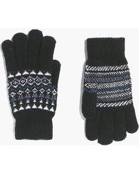 Boohoo - Fairisle Gloves - Lyst