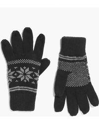 Boohoo - Fairisle Snowflake Gloves - Lyst