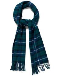 GANT - O1. Checked Lambswool Scarf - Lyst