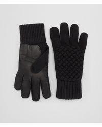 Bottega Veneta - Nero Wool/leather Glove - Lyst