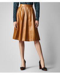 Bottega Veneta - Skirt In Lamb - Lyst