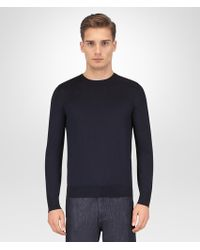 Bottega Veneta - Dark Navy Merino Sweater - Lyst