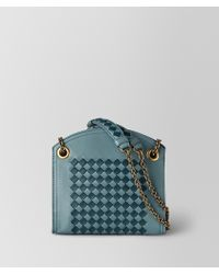 Bottega Veneta - Chain Wallet In Intrecciato Chequer - Lyst