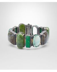 Bottega Veneta - Bracelet In Gemstones And Silver, Yellow Gold Accents - Lyst