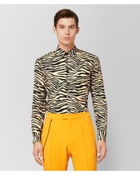 Bottega Veneta - Camel/nero Cotton Shirt - Lyst