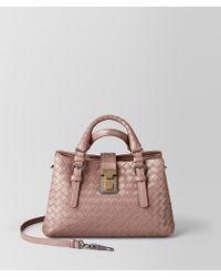 0fa0867b254c Bottega Veneta - Mini Roma Bag In Intrecciato Calf - Lyst