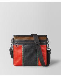 Bottega Veneta - Messenger Bag In Micro Intrecciato Embossed - Lyst