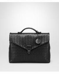 ca8a180fa3f4 Bottega Veneta - Small Briefcase In Light Tourmaline Intrecciato Vn - Lyst