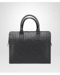 Bottega Veneta - Nero Intrecciato Briefcase - Lyst