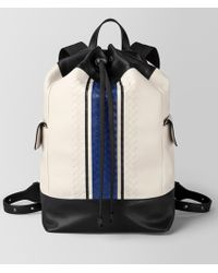 Bottega Veneta - Mist Vialinea Calf Backpack - Lyst