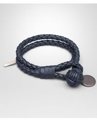 Bottega Veneta - Bracelet In Denim Intrecciato Nappa - Lyst