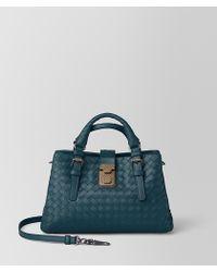 Bottega Veneta - Mini Roma Bag In Intrecciato Calf - Lyst