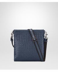 Bottega Veneta - Light Tourmaline Intrecciato Small Messenger Bag - Lyst