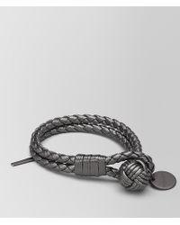 Bottega Veneta - Argento Ossidato Intrecciato Gros Grain Bracelet - Lyst