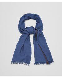 Bottega Veneta - Royal Dark Brown Cashmere Silk Scarf - Lyst