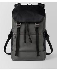 Bottega Veneta - Light Grey Hi-tech Canvas Sassolungo Backpack - Lyst