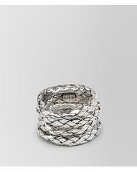 Bottega Veneta - Rings In Intrecciato Silver - Lyst