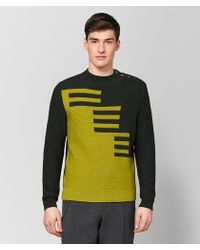 Bottega Veneta - Dark Moss/chamomile Wool Sweater - Lyst