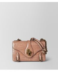 Bottega Veneta - Dahlia Crocodile City Knot Bag - Lyst