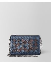 Bottega Veneta - Biletto Chain In Intrecciato Plume - Lyst