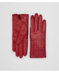 Bottega Veneta - China Red Lamb Glove - Lyst