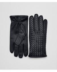 Bottega Veneta - Gloves In Dark Navy Nappa - Lyst