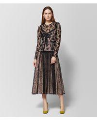 Bottega Veneta - Camouflage Lace Midi Dress - Lyst