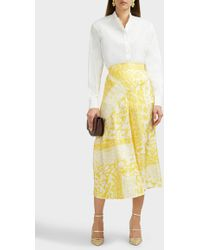 e752d01c8 Victoria Beckham - High-waisted Silk Midi Skirt - Lyst