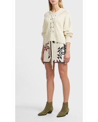 Isabel Marant - Lickly Origami Quilted Cotton Skirt, Fr36 - Lyst