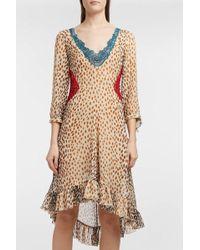 Marco De Vincenzo - Ruffled Leopard-print Chiffon Dress - Lyst